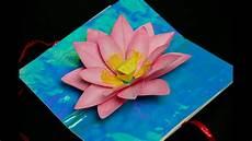 pop up card template flowers lotus flower pop up card