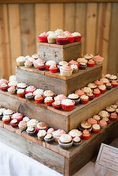diy barn wood cupcake stand dessert table party wooden