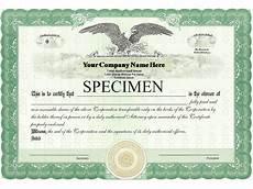 Stock Certificates Templates Llc Or Corporation Certificates Delaware Business