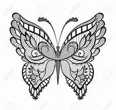 Ausmalbilder Schmetterling Mandala Stock Photo Schmetterling Vorlage Henna