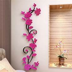 3d flower beautiful diy mirror wall decals stickers