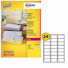 Avery 30 Per Page Labels Avery Address Laser Labels 24 Labels Per Sheet 100 Sheets