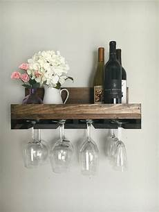 20 rustic wood wine rack shelf stemware glass holder