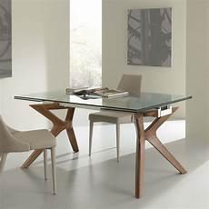 vetro tavolo tavolo moderno allungabile in acciaio inox e vetro