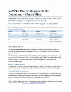 Application Design Document Sample Sample Project Requirements Document Library Blog