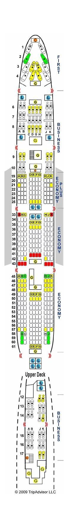 747 400 Seating Chart United Airlines Philippine Airlines Boeing 747 400 427 Seats Aircraft