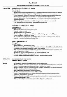 Guest Service Agent Resume Guest Services Agent Resume Samples Velvet Jobs