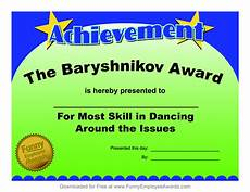 Fun Certificates For Employees Certificates Fun Certificate From Funny Employee He Bar