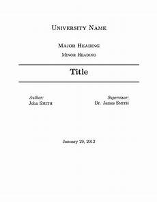 How To Write A Cover Page University Assignment Title Page Template Font Stuff