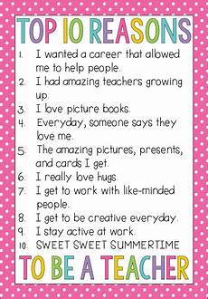 Why Do I Want To Be A Teacher Top 10 Reasons I Became A Teacher Teaching With O