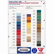 Dee Thread Chart Thread From Coats Vicar Action Upholstery Supply
