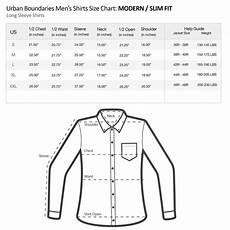 Slim Fit Shirt Size Chart Uk Men S Size Charts Urban Boundaries