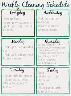 Cleaning House Schedule Chart Orchard Girls Free Printable Cleaning Schedule
