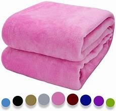 howarmer cozy throw blankets for sofa pet bed pink