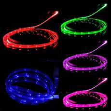 Wireless Phone Charger Light Up Led Light Up Charger Cable Luminescent Visible Smart Sync