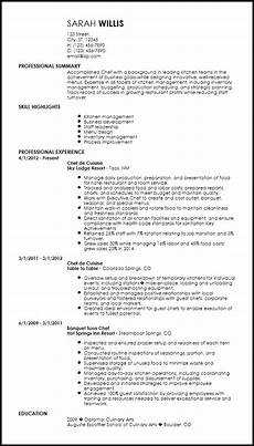 Free Chef Cv Template Free Creative Chef Resume Templates Resume Now