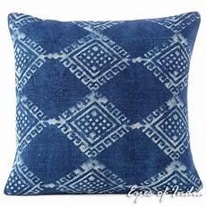 indigo blue decorative block print bohemian dhurrie throw