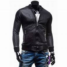 slim fit coats for black slim fit black quilted faux leather motorcycle jacket mens