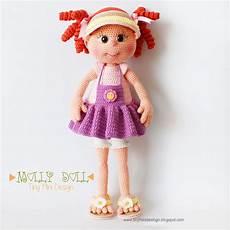 amigurumi molly doll tiny mini design