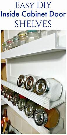 diy inside cabinet door shelf create and babble