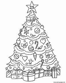 Malvorlagen Tannenbaum Kostenlos Phenomenal Tree Gifts Coloring Pages Printable