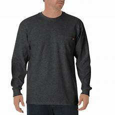 3x mens sleeve shirts dickies s charcoal sleeve heavyweight crew neck