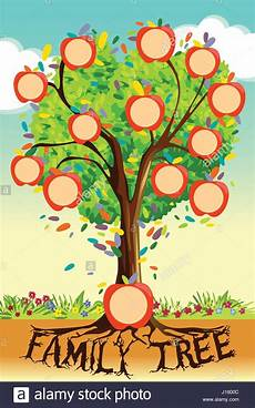 Family Tree Pics Template A Vector Illustration Of Family Tree Template Stock Vector