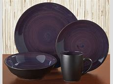 Black Stoneware Dinnerware Sets & CAC China ColorUs 113034
