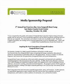 Non Profit Sponsorship Proposal Template 19 Sponsorship Proposal Examples Word Pdf Free