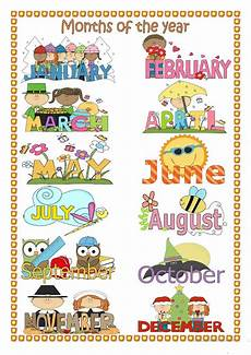 Printable Month Months Of The Year Worksheet Free Esl Printable