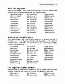 Job Keywords Ultimate List Of 500 Resume Keywords