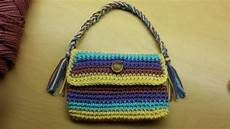crochet how to crochet a rope handled purse tutorial