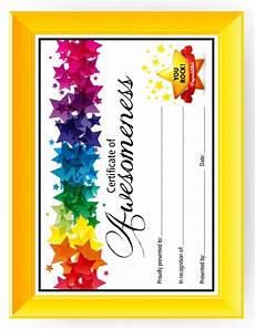Free Certificate Template For Kids Certificate Of Awesomeness Templates For Kids Printable