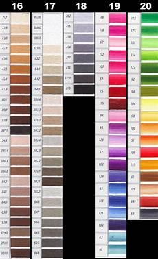 Dmc Chart Dmc Perle Threads Color Chart Nakpunar