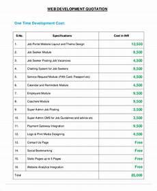 Website Estimate Template 14 Website Quotation Templates Pdf Word Google Docs