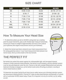 Skydiving Helmet Size Chart Sizing Chart For Shoei Helmets Motorcyclegear Com