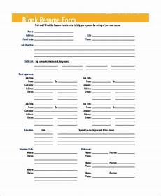 Resume Form Pdf Free 9 Sample Blank Resume Templates In Ms Word Pdf