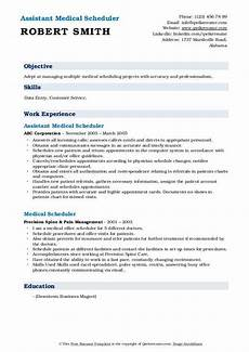 Medical Scheduler Resume Medical Scheduler Resume Samples Qwikresume