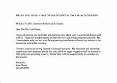 Follow Up Thank You Email 14 Thank You Email After Interview Doc Excel Pdf
