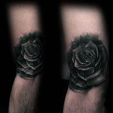 Black And Shaded Designs 80 Black Rose Designs For Men Dark Ink Ideas