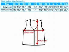 Vest Size Chart Singlet Size Chart