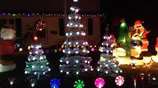 Top Of Christmas Tree Lights Not Working Gemmy Incredible Holiday Lightshow Trees Youtube