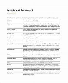 Sample Investor Agreement 11 Restaurant Investment Agreement Examples Pdf Examples