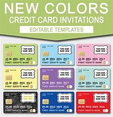Credit Card Template For Kids Credit Card Invitation Mall Scavenger Hunt Invitations