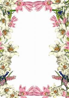 Stationery Border Design Best Vintag Flower Border 30229 Clipartion Com