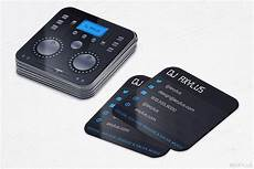 Dj Business Cards Mixer Dj Business Cards Music Die Cut Rounded Corners