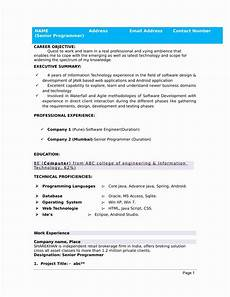 Attractive Resume Format For Freshers 25 Sample Resume For Freshers In 2020 Job Resume