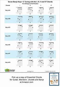 5 String Banjo Chord Chart Pdf 5 String Banjo Chord And Key Chart In C Tuning G C G B D