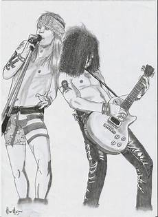 axl and slash guns n roses free coloring pages