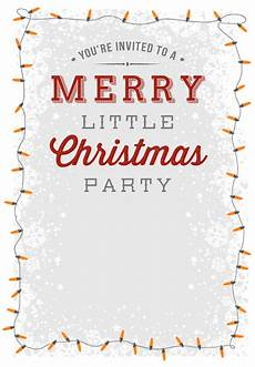 Holiday Party Invitations Template A Merry Little Party Free Printable Christmas Invi